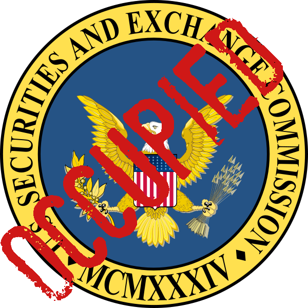 Occupy the SEC has occupied the Securities and Exchange Commission's logo!